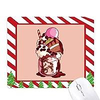 ケーキ・ビスケットクリームチョコレートアイスクリーム ゴムクリスマスキャンディマウスパッド