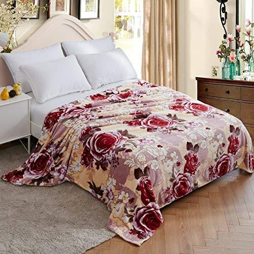 NA Mybh casa Manta de Franela sábanas de Lana de Coral Manta de Yoga Cubierta Manta de Aire Acondicionado Manta de Ocio Manta de Viaje150 * 200cm