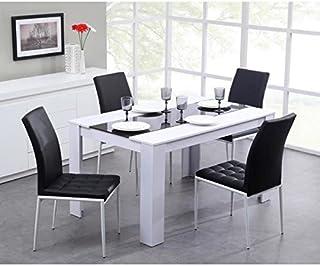 De Haute Qualite Générique Damia Table De Séjour 140 X 90cm Noir/Blanc