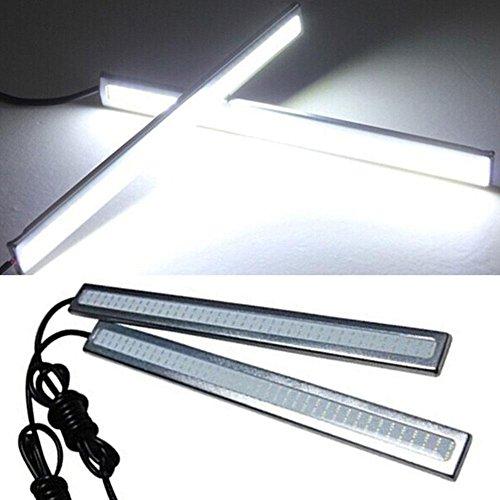 ZHUOTOP Lot de 2 ampoules LED COB ultra fines 17 cm 12 V étanches pour voiture, antibrouillard, conduite, frein, lumière blanche