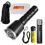 NITECORE CI7 2500 Lumen Tactical Flashlight with 7000mw 940nm Long Range Infrared IR Illuminator and NITECORE NL1835HP Battery, NITECORE UI1 Battery Charger, LumenTac Battery Organizer