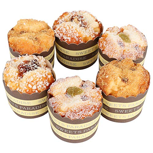 Firlar 6 Pcs Fake Cupcake Faux Cakes Simulation Realistic Food Cupcake Bread Dessert for Decoration Display Props Real Model Kitchen Toy Decoration