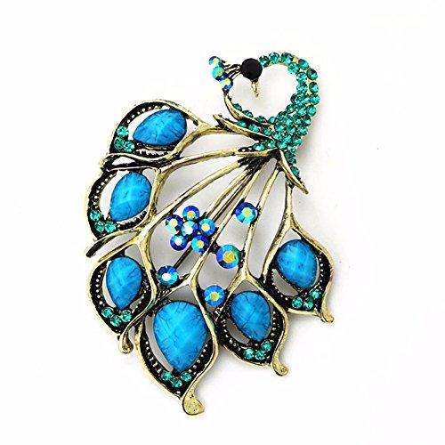 Mijn Droom Dag Glanzende Mode Mode Mooie Broche Pins Backs Vrouwelijke Pauw Verenigde Jas Pluche Jas Jurk Party Verenigd met