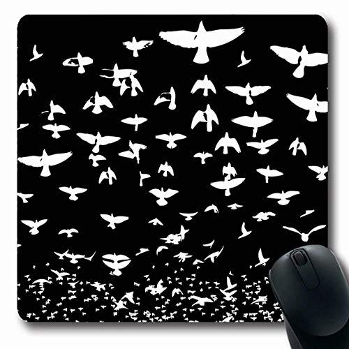 Luancrop Mousepad Oblong Goose Blue Herde Vogel Leben Taube Fliege Rohrdommel Schwarz Kanarienvogel Kardinal Design Ente Büro Computer Laptop Notebook Mauspad, Rutschfester Gummi