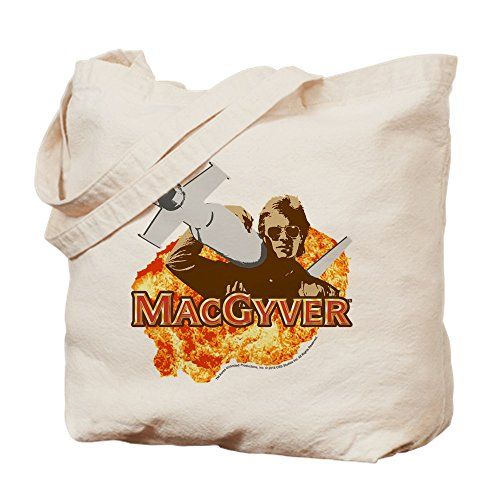 CafePress Macgyver in Action Tragetasche, canvas, khaki, M