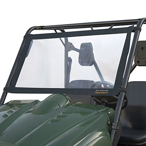Classic Accessories - 78627 QuadGear UTV Windshield For Kawasaki Mule 2500/3000 & Polaris Ranger, Black