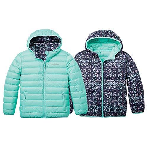 Eddie Bauer Girls Reversible Jacket - Down, Waterproof, Hooded | Aqua, Medium
