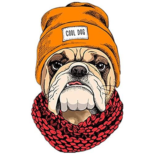XLYDF 20cm perro fresco con bufanda y sombrero etiqueta de automóvil calcomanías anime lindo accesorios de coche decoración (Color Name : 2)