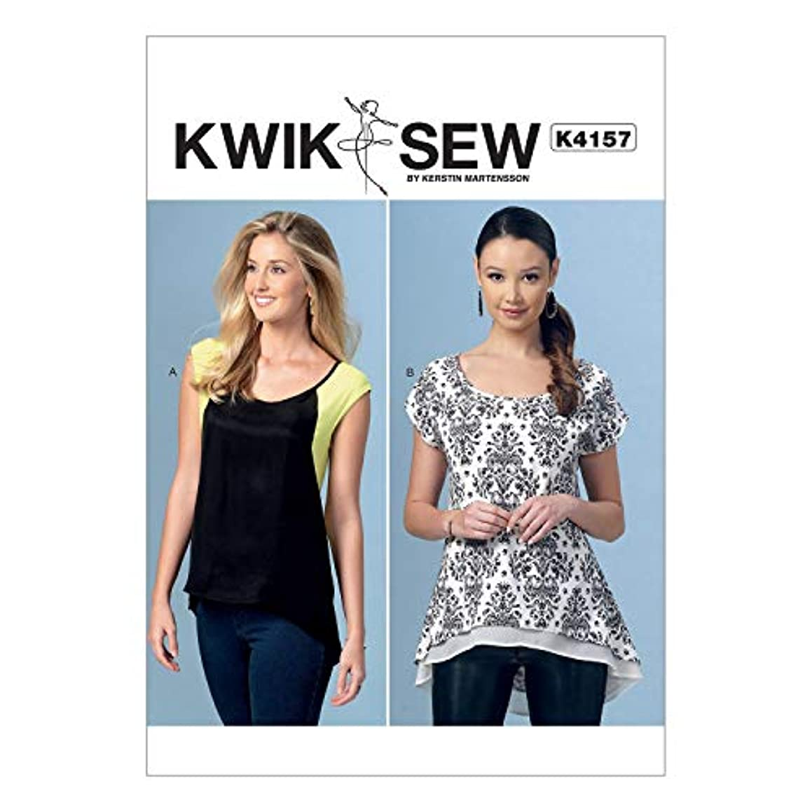 KWIK-SEW PATTERNS K4157 Misses' Scoop-Neck High-Low Tops, All Sizes