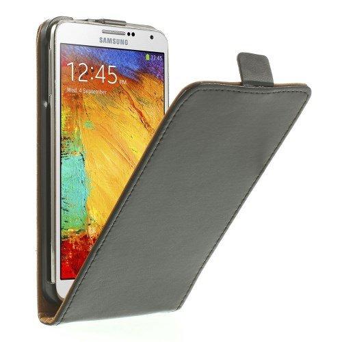 jbTec® Flip Hülle Handy-Hülle passend für Samsung Galaxy Note 3 Neo - Schwarz #02 - Handy-Tasche Schutz-Hülle Cover Handyhülle