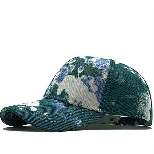 ShFhhwrl Gorra De Beisbol Sencillo Camo Unisex Mujeres Hombres Sombreros Ajustable Verde Blanco Impresión En Color Graffiti Gorra De Béisbol A Juego para Hombre