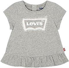 Levi's Baby Girls' Graphic Marled Gris para Niña