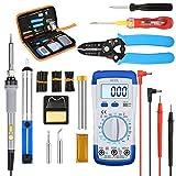 BFFDD Kit de Herramientas Kit de Soldadura de 60W Soldadura Herramienta de Soldadura electrónica Caja de Temperatura Ajustable Soldadura de Soldadura de Hierro (Color : US Plug)