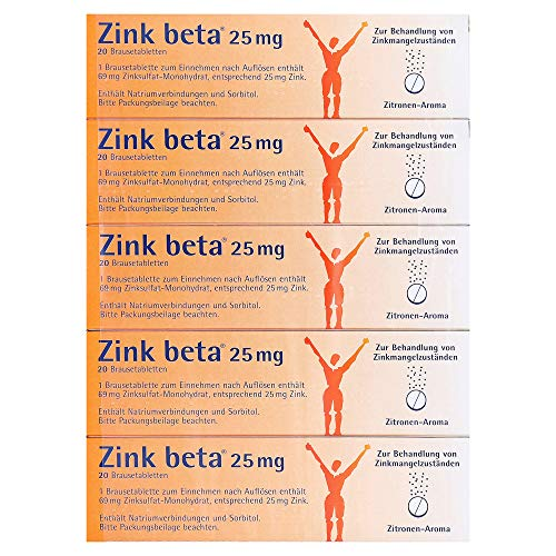 Zink beta 25 mg Brausetabletten, 100 St. Tabletten