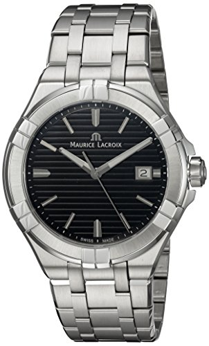 Maurice Lacroix Herren Analog Quarz Uhr mit Edelstahl Armband AI1008-SS002-331-1