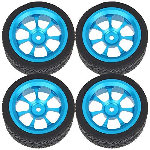 banapoy Cubo de Rueda, neumáticos de Rueda RC Neumáticos de Goma de Repuesto de neumáticos RC Azules Resistentes al Desgaste para Juguetes RC