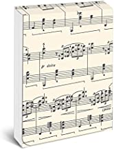 """Graphique Sheet of Music Pocket Notes – Pocket Notebook with """"Just a Note"""" Interior and Matching Sheet Music Magnetic Lid ..."""