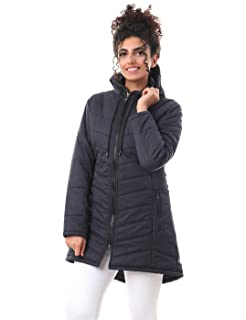 Andora Quilted Side Pockets Front Buttons Hooded Jacket for Women