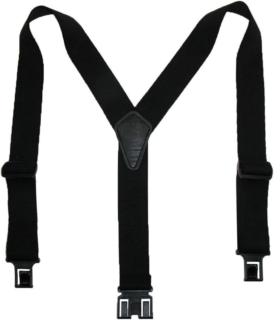Perry Suspenders Men's Elastic Ruf-N-Tuf Hook End Suspenders (Tall Available)