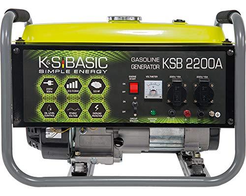 K&S Basic - Groupe électrogène à essence, 70dB/2200W