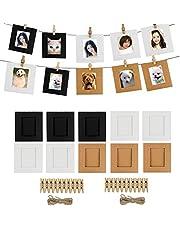 Cpano 20pcs Papel Decoración de la pared para colgar fotos de película Marco para Fujifilm Instax Mini 8 7S 8 + 9 25 26 50s 90 Polaroid películas y tarjeta de nombre (negro / marrón / blanco)