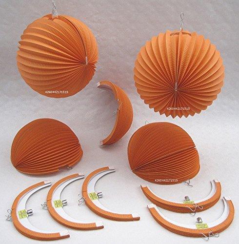 Lampions Orange D-25cm STD 10 orangefarbene Papierlampions kaufen