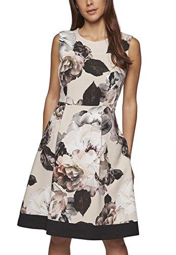 APART Fashion Damen Kleid, Mehrfarbig (Puder-Multicolor 0), 42
