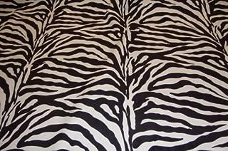 Zebra Brown Plush Upholstery Velvet Fabric Per Yard