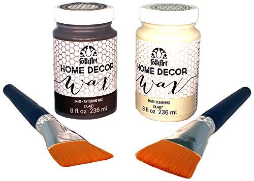 FolkArt Home Decor Chalk Wax and Brush Set,