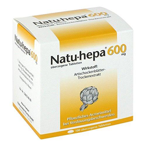Natu-hepa 600 mg Tabletten bei Verdauungsbeschwerden, 100 St. Tabletten
