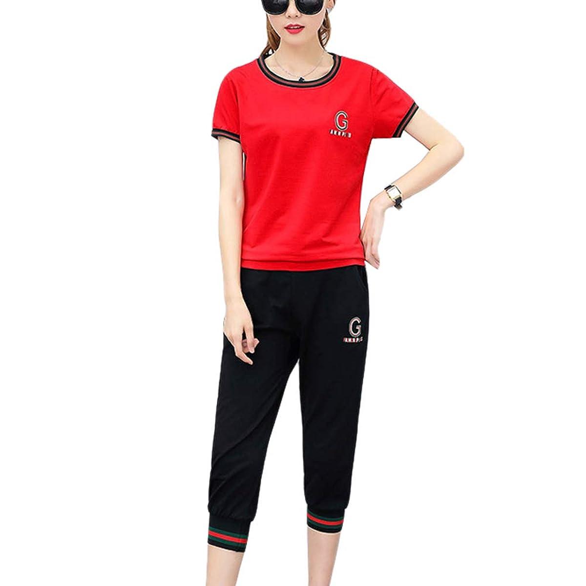 追加する悪いアウター【ユウエ】ジャージ レディース 上下 スポーツウェア ゴルフウェア スウェット ポロシャツ セットアップ 大きいサイズ 014-ayss-9950(XL レッド )