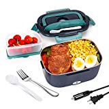 Electric Lunch Box Portable Food Heater for Car,Truck and Work Andvon 3 in 1 Food Warmer 12V&24V&110V Portable Microwave Leak proof Removable Stainless Steel Food Warming Container 1.5L