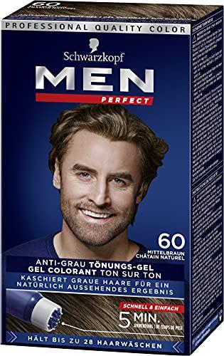 Men Perfect Schwarzkopf 60 Haartönung Natur mittelbraun hochwertige Haarfarbe gegen graue Haare 3er Pack (3 x 80ml)