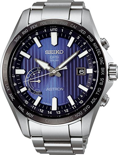 Seiko Astron Perpetual World Time GPS Solar Blue Dial Men's Watch SSE159J1