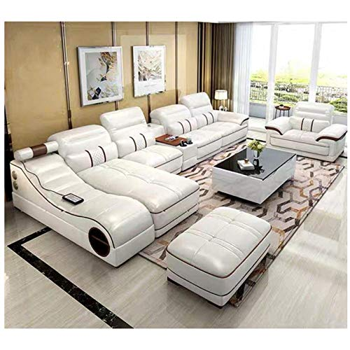 Winpavo Sofas & Sofas Sofa Corner Sofa Set Wohnzimmer Möbel Billig Leder Ecksofa Set 7-Sitzer Schnitt-Gebundenes Ledersofa
