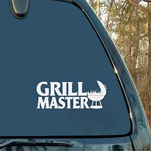 13.5x5.4Cm Grill Master Decal Window Bumper Sticker Auto Man Cookout Zomer Voedsel Auto Sticker Stickers Moderne Sticker voor Auto Laptop Window Sticker