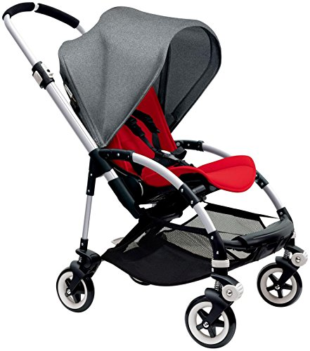 Fantastic Deal! Bugaboo Bee3 Stroller - Grey Melange - Red - Aluminum