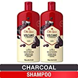 Old Spice Shampoo for Men, Charcoal Build-Up Removing, Volcano, 25.3 fl oz, Twin Pack