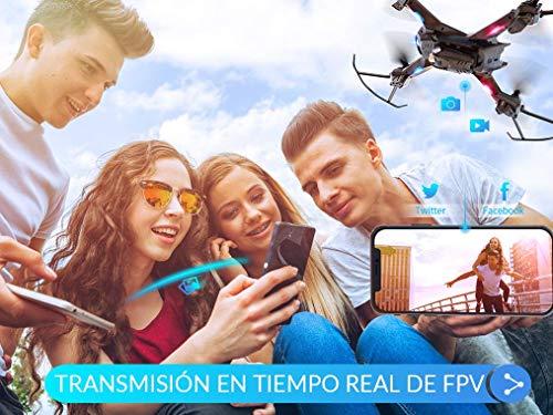 SNAPTAIN-S5C-Drone-con-Cmara-1080P-HD-Dron-WiFi-FPV-por-Control-Remoto-Control-de-Voz-Control-de-Gestos-Quadcopter-Helicptero-con-Headless-Modo-Altitud-Hold-G-Sensor-Modo-rbita-3D-Flip