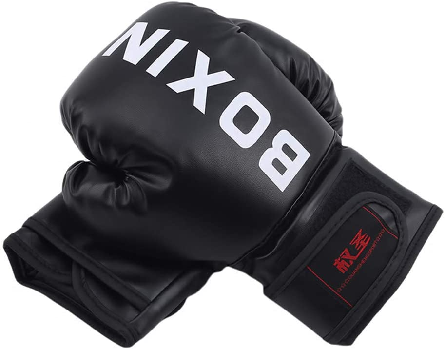 color Ni/ño Negro 6oz 10oz saco de boxeo guantes de entrenamiento guantes de entrenamiento de boxeo tama/ño As The Description JIFNCR Guantes de boxeo para ni/ños y j/óvenes