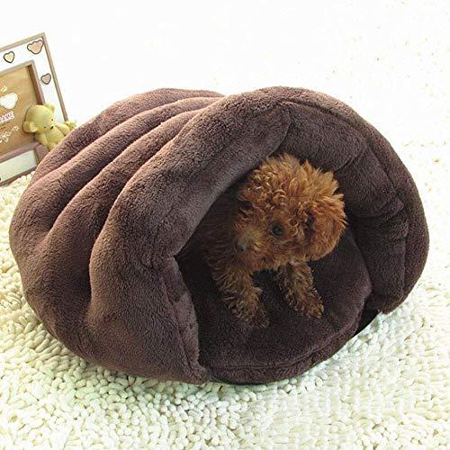 YLCJ Bout Donut Kussen voor honden en katten Zelfverwarmend ondergoed voor betere slaap Nest voor huisdieren Warm slaapzak Verwijderbaar nest met ademend katoen voor katten (Kleur: grijs, Maat: M), M, BRON