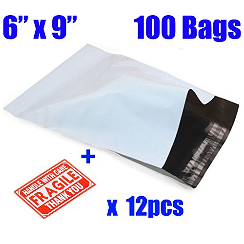 MFLABEL 100 6x9 Poly Mailers Self Sealing Envelopes Bags Shipping Mailing Bags