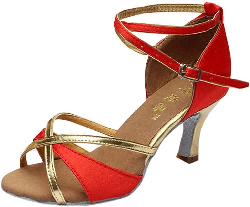 /à Bride//Bouts Ouverts Femme Escarpins Satin Bout Ouvert Diamant Talon Bas Sandales Chaussures de Mariee Bal Chaussures de Danse Latine Subfamily Sandales /à Petits Talons Mariage//F/ête