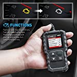 """LAUNCH Creader 3001 OBD2 Scanner Automotive Car Diagnostic Check Engine Light O2 Sensor Systems OBD Code Readers Scan… 14 : LAUNCH Creader 3001 obd2 scanner read and clear fault codes for engine system. In addition, Creader 3001 built in fault codes definition lookup library. LAUNCH Creader 3001 obd2 scanner works on most 1996 and newer US-based vehicles that are OBDII compliant (OBDII protocols: KWP2000, ISO9141, J1850 VPW, J1850 PWM and CAN). """"PLUG AND PLAY"""" scan tool, equipped with a 2. 5 feet long cable and made of a very thick flexible insulator, very easy to use for beginners. : You can use this obd2 scanner to check the status of emission-related monitors misfire system and fuel system, make sure the monitor was set before taking it to smog, help you pass the Smog Check easily, save your money for paying fine tickets. : Turns off the MIL , if you finished repairing the faulty components, then clear the fault codes and turn on the vehicle ignition, it is surprise that you will find the check engine light is off. And more, LAUNCH Creader 3001 obd2 scanner can read the car's information such as VIN number."""
