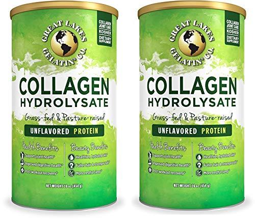 Great Lakes Gelatin, Keto, Grass-Fed, Beef Collagen Hydrolysate, 16 oz, 2-Pack, FFP