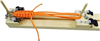 Adjustable Length Paracord jig Bracelet Maker Wooden Frame-Paracord Braiding Weaving DIY Craft Tool Kit