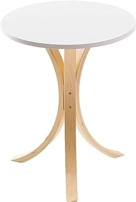 システムK テーブル 北欧インテリア家具 サイドテーブル 木製 円 丸 ホワイト(テーブル) テーブル