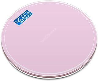 Báscula de Peso Báscula de Peso USB Recargable Cuerpo de la casa precisa Pantalla Digital Extragrande Báscula de baño de Grasa Corporal con Vidrio Templado (Color: Rosa)