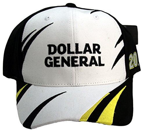 NASCAR Matt Kenseth #20 Dollar General Jagged Design Adult Adjustable Hat Cap Black