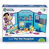 Learning Resources Pretend & Play Animal Hospital, Childrens Veterinarian Kit & Vet Center, 20 Pieces, Ages 3+